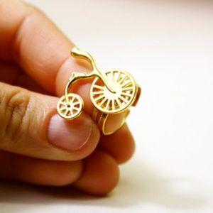 Bike/Bicycle Ring, Nerdy Jewelry, 100% Handmade🌸